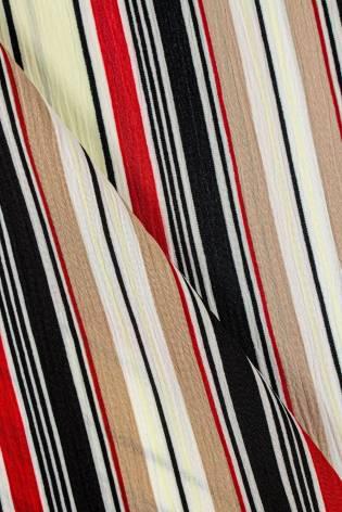 Tkanina krepa pionowa w kolorowe paski - 150cm 130g/m2 thumbnail