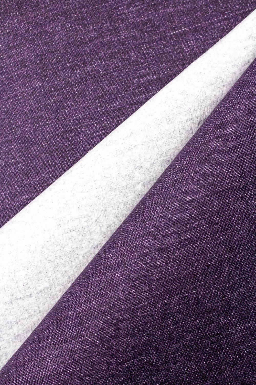 Tkanina lniana sztywna z poklejką papierową fioletowa - 145cm 355g/m2