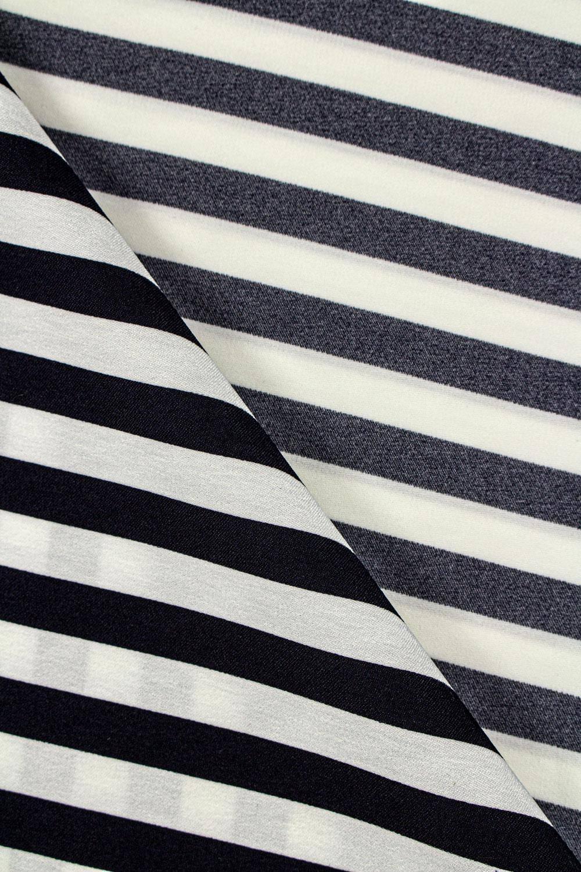 Fabric - Shirt Type - Navy Blue & Ecru Stripes - 150 cm - 130 g/m2