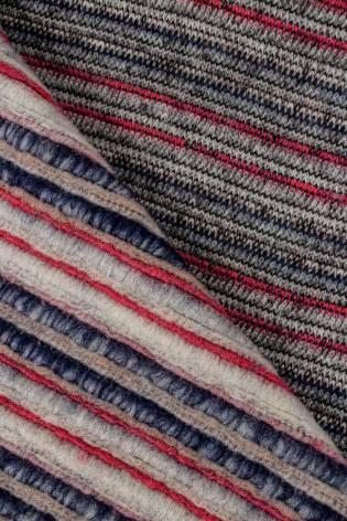 Dzianina sweterkowa gruba w paski - 130cm 500g/m2 - 1