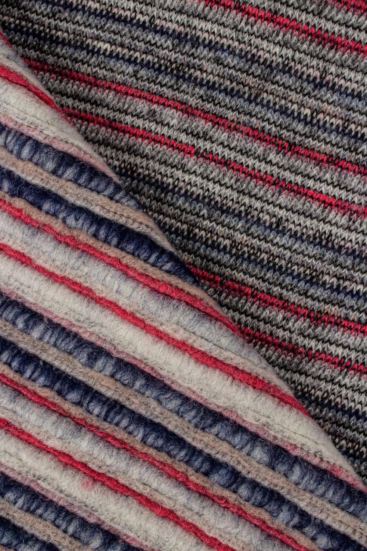 Dzianina sweterkowa gruba w paski - 130cm 500g/m2