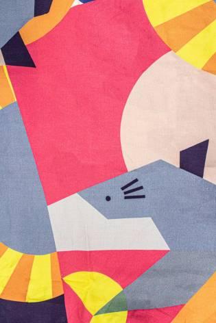 Fabric - Viscose - Colourful Geometric Pattern - 140 cm - 140 g/m2 thumbnail