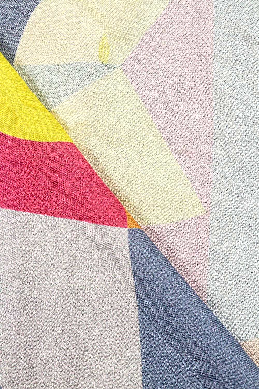 Fabric - Viscose - Colourful Geometric Pattern - 140 cm - 140 g/m2