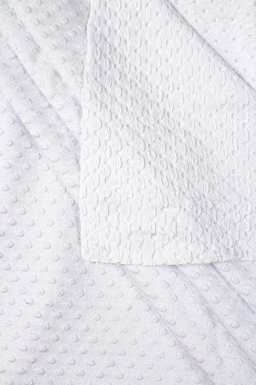 Dzianina jersey wiskozowy - biały tłoczony  - 155cm 245g/m2