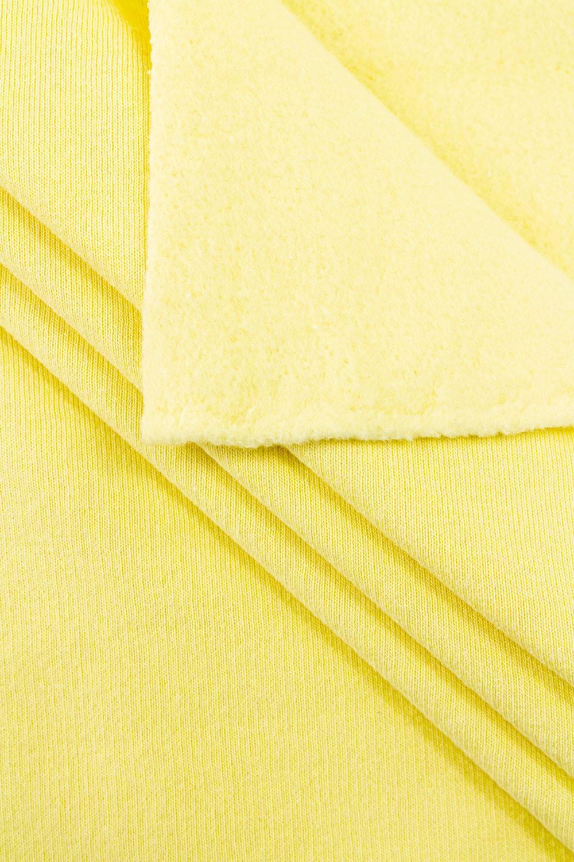 Dzianina dresowa drapana - bananowy - 175cm 370g/m2
