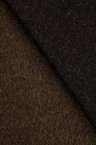 Tkanina flausz moherowa - brązowy - 155cm 360g/m2 - 1
