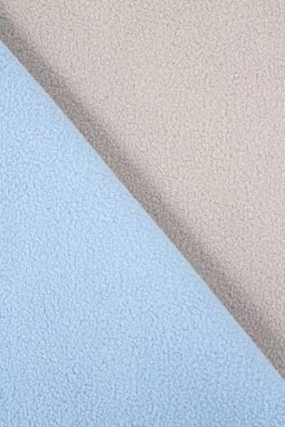 Dzianina gruba dwustronna polarowa - beżowo błękitna - 155cm 400g/m2 - 1