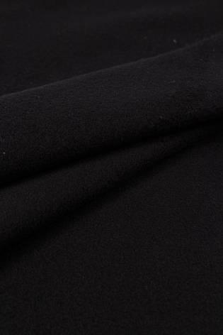 Tkanina flausz - czarny  - 150cm 400g/m2 thumbnail