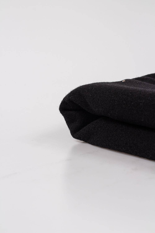 Knit - Wool - Black - 150 cm - 400 g/m2