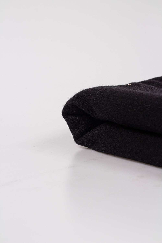 Tkanina flausz - czarny  - 150cm 400g/m2