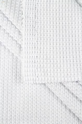 Dzianina jersey strukturalny biały - wafelek  - 150m 280g/m2 - 1