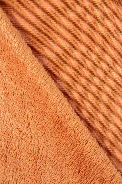 Tkanina minky gładkie łososiowe - 115cm 280g/m2