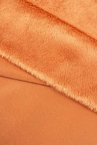 Tkanina minky gładkie łososiowe - 115cm 280g/m2 thumbnail