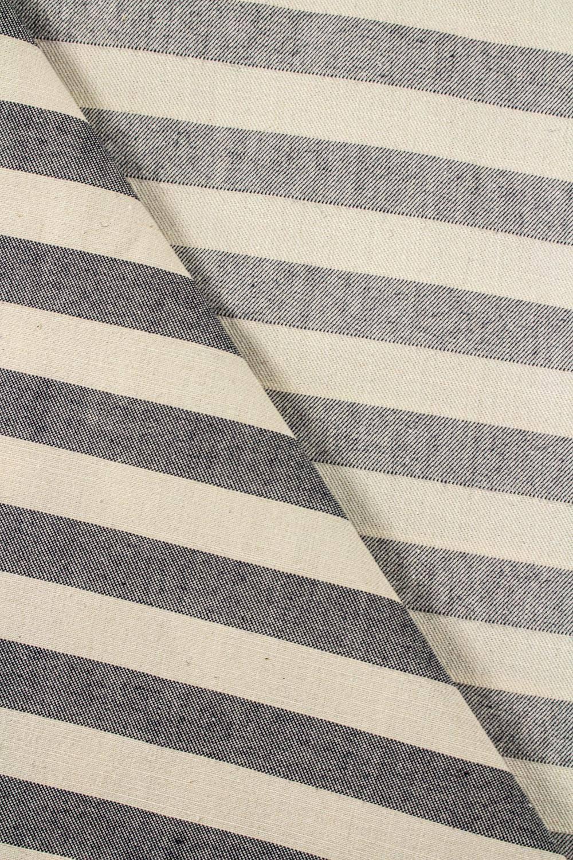 Tkanina surówka drelich bawełniany  w paski - 160cm 180g/m2
