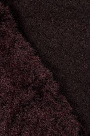 Fabric - Eco Fur - Burgundy - 150 cm - 570 g/m2 thumbnail