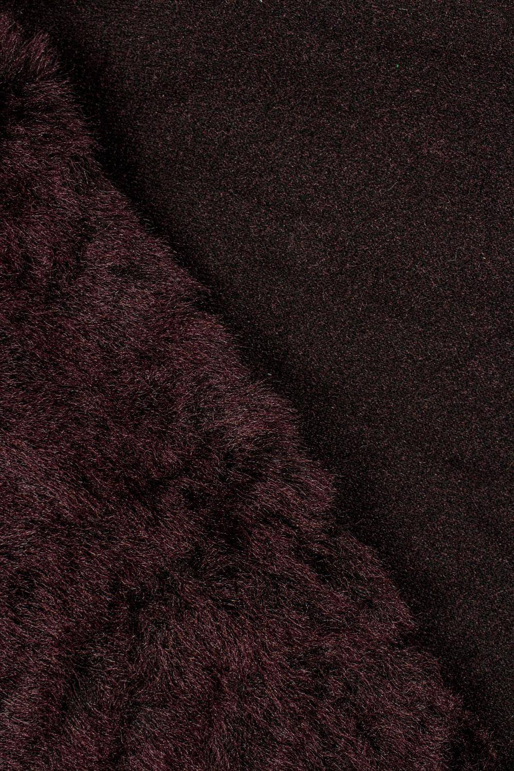 Fabric - Eco Fur - Burgundy - 150 cm - 570 g/m2