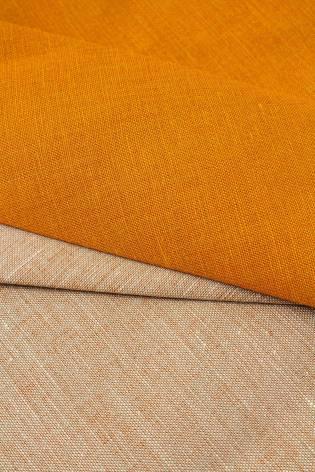 Fabric - Linen - Orange - 155 cm - 220 g/m2 thumbnail