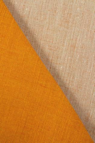 Tkanina lniana pomarańczowa - 155cm 220g/m2 - 1