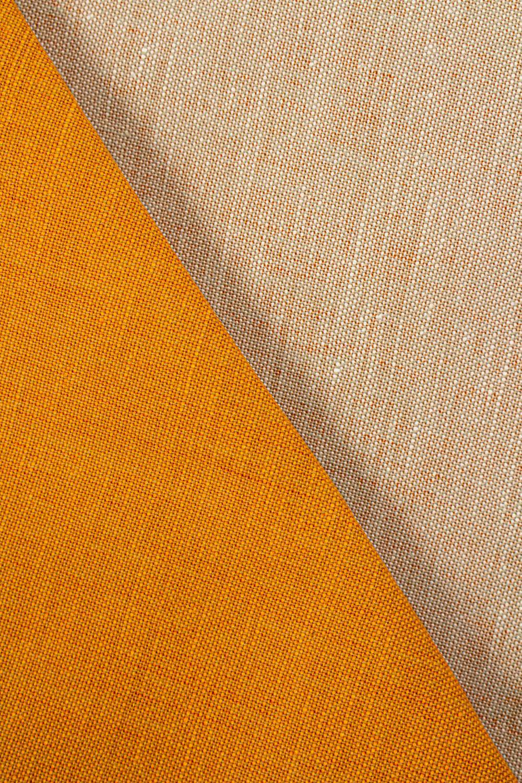 Fabric - Linen - Orange - 155 cm - 220 g/m2