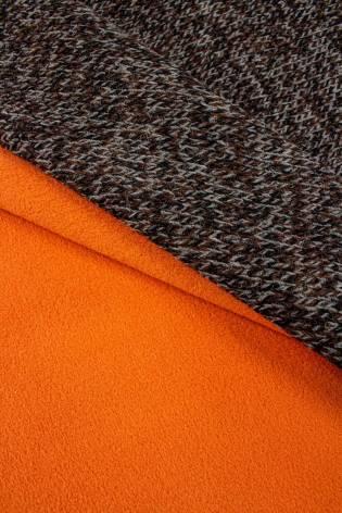 Dzianina sweterkowa wełniana na pomarańczowym polarze - 150cm 380g/m2 thumbnail