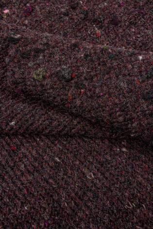 Dzianina sweterkowa gruba bordowa - 135cm 390g/m2 thumbnail