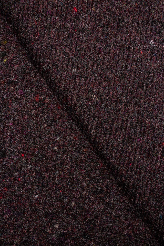 Dzianina sweterkowa gruba bordowa - 135cm 390g/m2