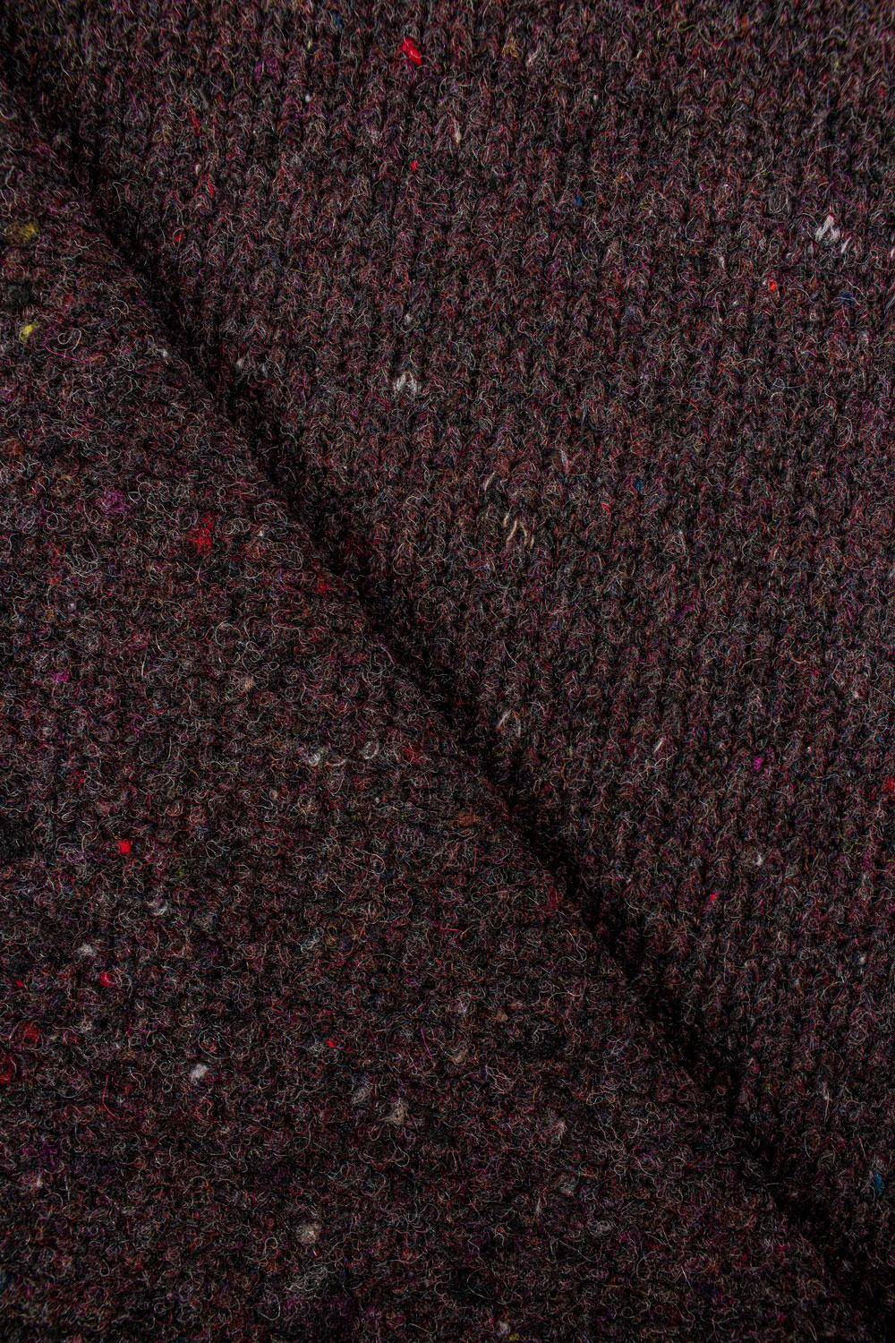 Knit - Sweater Type - Thick - Burgundy - 135 cm - 390 g/m2
