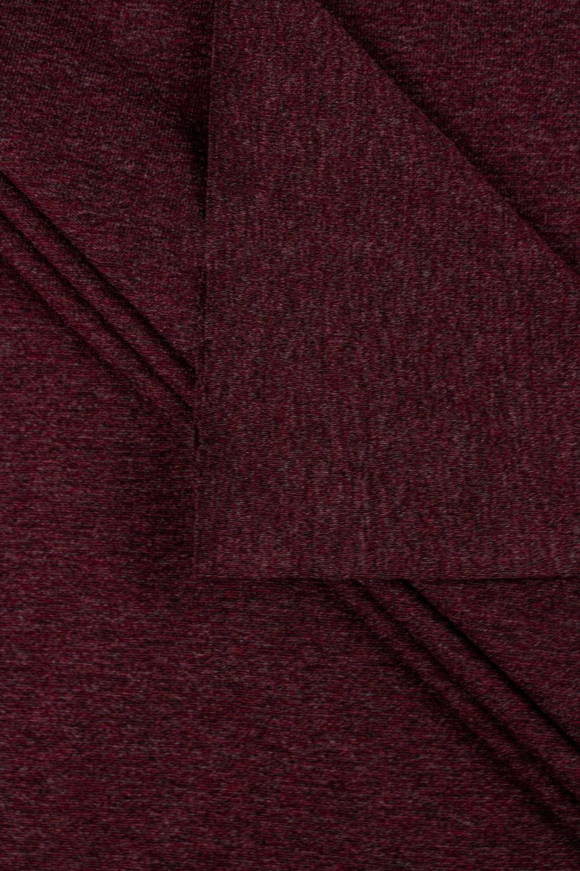Dzianina jersey bordowy melanż - 90cm /180cm 200g/m2