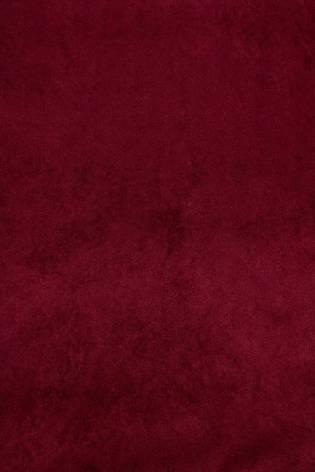 Tkanina zamszowa na dzianinie - bordowy - 165cm 270g/m2 thumbnail
