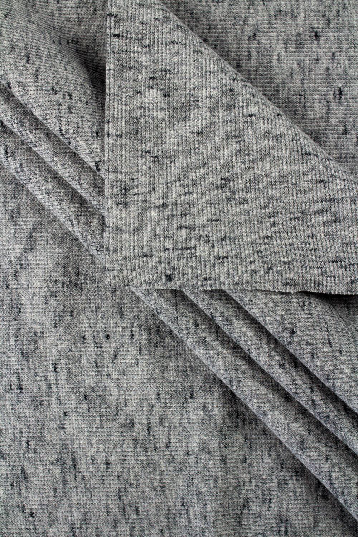 Knit - Welt - Ribbed -  Grey With Graphite Melange - 50 cm/100 cm - 250 g/m2