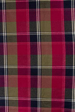 Fabric - Flannel - Red-beige-black/navy blue - Checkered Pattern - 155 cm - 260 g/m2 thumbnail