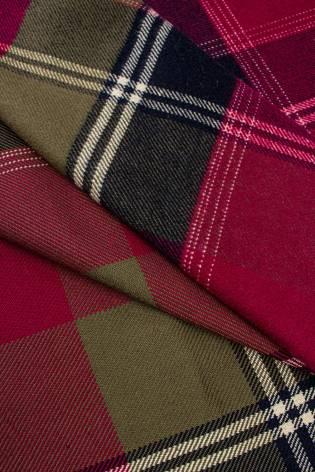 Tkanina flanelowa w kratkę - dwa kolory - 155cm 260g/m2 thumbnail
