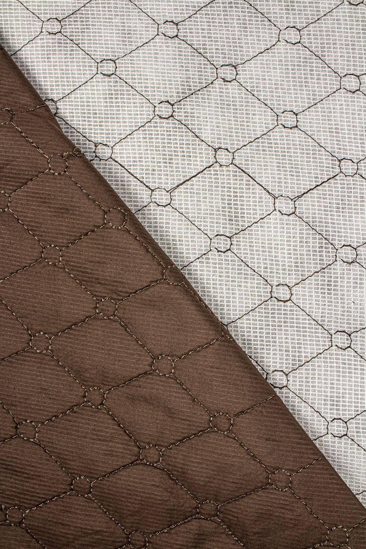 Tkanina pikowana brązowa - 145cm 200g/m2