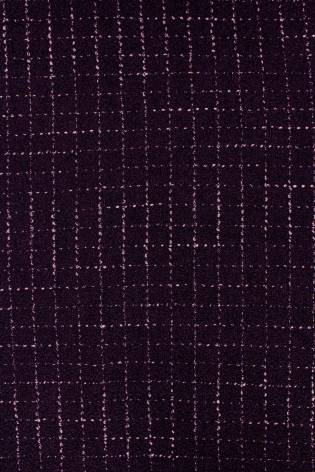 Fabric - Woolen - Dark Purple With Delicate Checkered Pattern - 140 cm - 360 g/m2 thumbnail