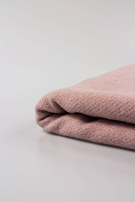 Tkanina wełniana flausz - róż - 150cm 420g/m2 STOK
