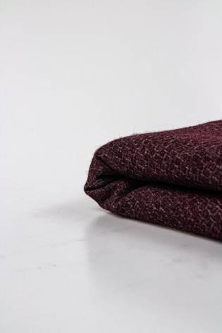 Knit - Wool - Coat - Burgundy - 155 cm - 230 g/m2 STOCK thumbnail