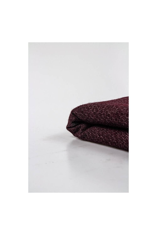 Tkanina płaszczowa w kolorze bordowy/wino - 155cm 230g/m2 STOK