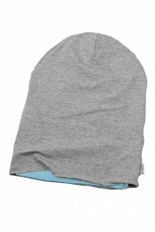 Knit - Double Sided Jersey - Alpen Fleece - Cotton/Suede - Grey & Light Blue - 155 cm - 350 g/m2 thumbnail