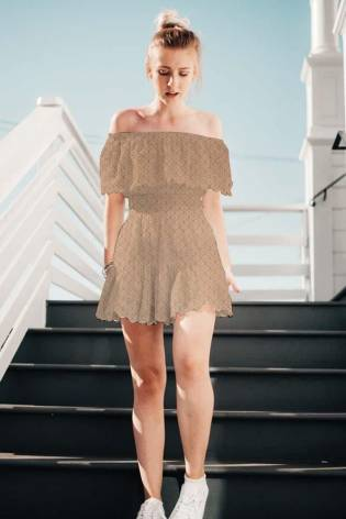 Knit - Jersey - Perforated - Nude - 175 cm - 160 g/m2 thumbnail