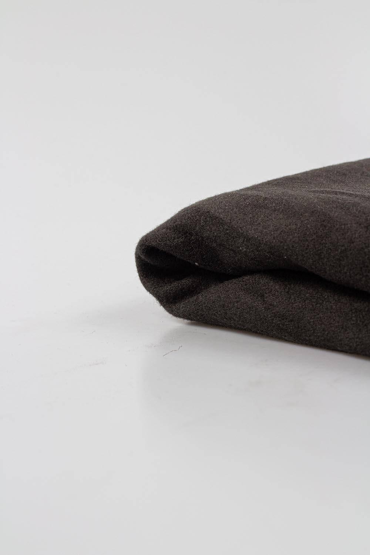 Tkanina wełniana płaszczowa - khaki  - 160cm 220g/m2