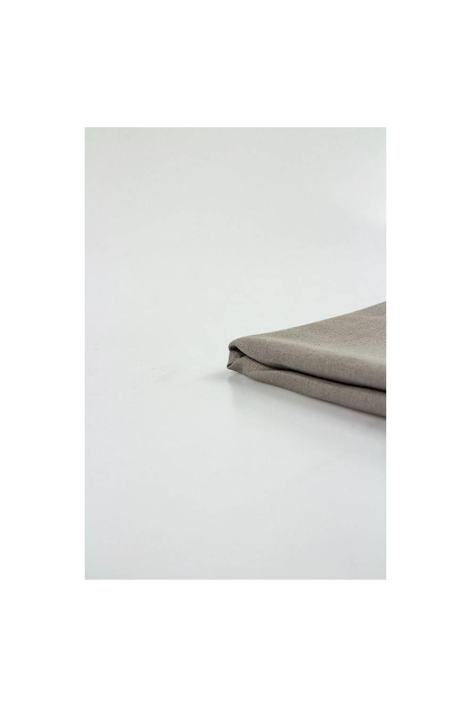 Tkanina pościelowa lniana popielata - 165cm 150g/m2 STOK