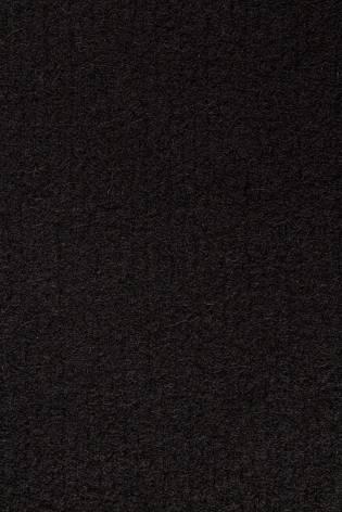 Tkanina wełniana płaszczowa boucle czarna - 150cm 480g/m2 STOK thumbnail