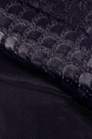 Knit - Eco Fur - A'la  - Fish Scales - Navy Blue - 160 cm - 320 g/m2 thumbnail