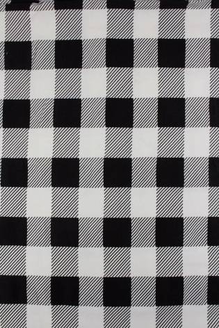 Knit - French Terry - White With Black Checkered Pattern - 185 cm - 220 g/m2 thumbnail