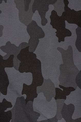 Tkanina bawełniana - grafitowa w moro - 130cm 260g/m2 thumbnail