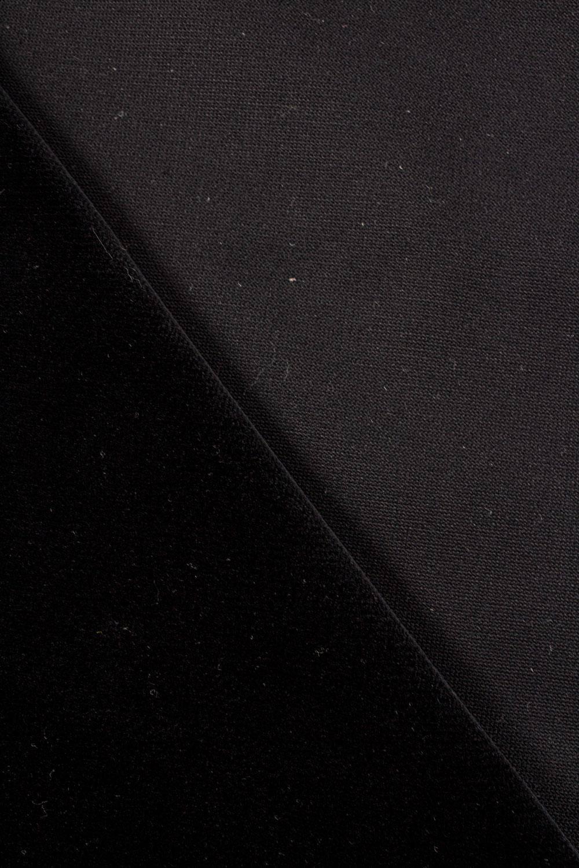 Welur tapicerski - czarny - 145cm 565g/m2
