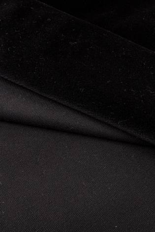 Fabric - Upholstery Velour - Black - 145 cm - 565 g/m2 thumbnail