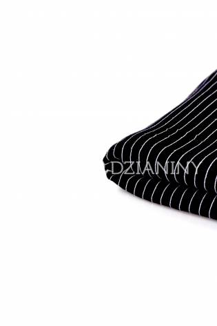 Knit - Bamboo Jersey - Black With White Stripes - 150 cm - 220 g/m2 thumbnail