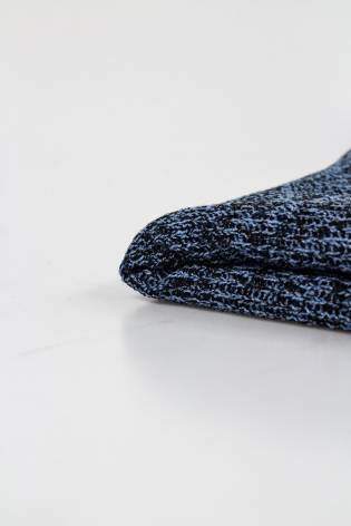 Dzianina sweterkowa z dodatkiem wełny - Granatowy 140cm  360g/m2 thumbnail