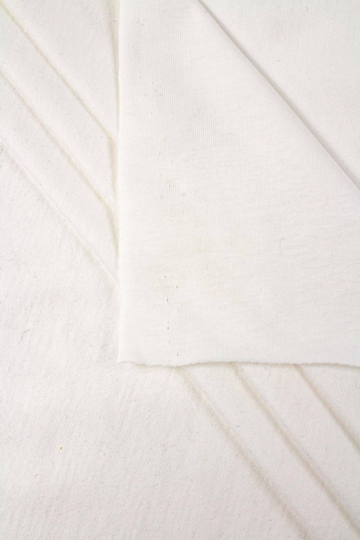 Dzianina jersey chemiczna biel (śmietanka) GOTS - 180cm 150g/m2